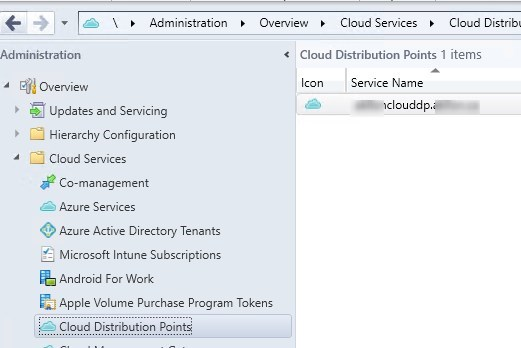 SCCM Cloud Distribution Point