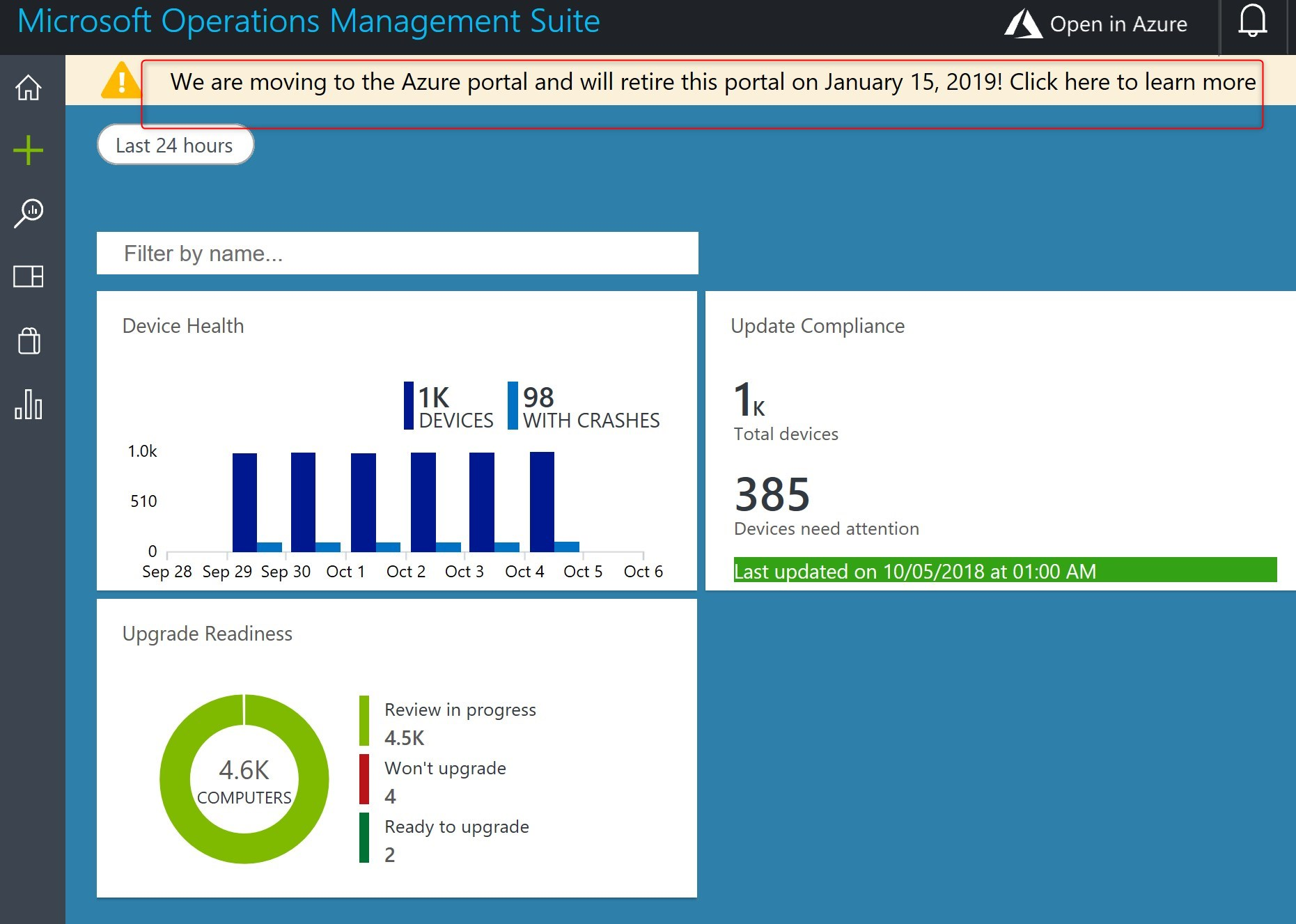 Azure Windows Analytics migration
