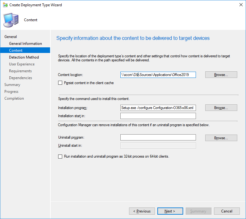 SCCM Office 2019 Deployment
