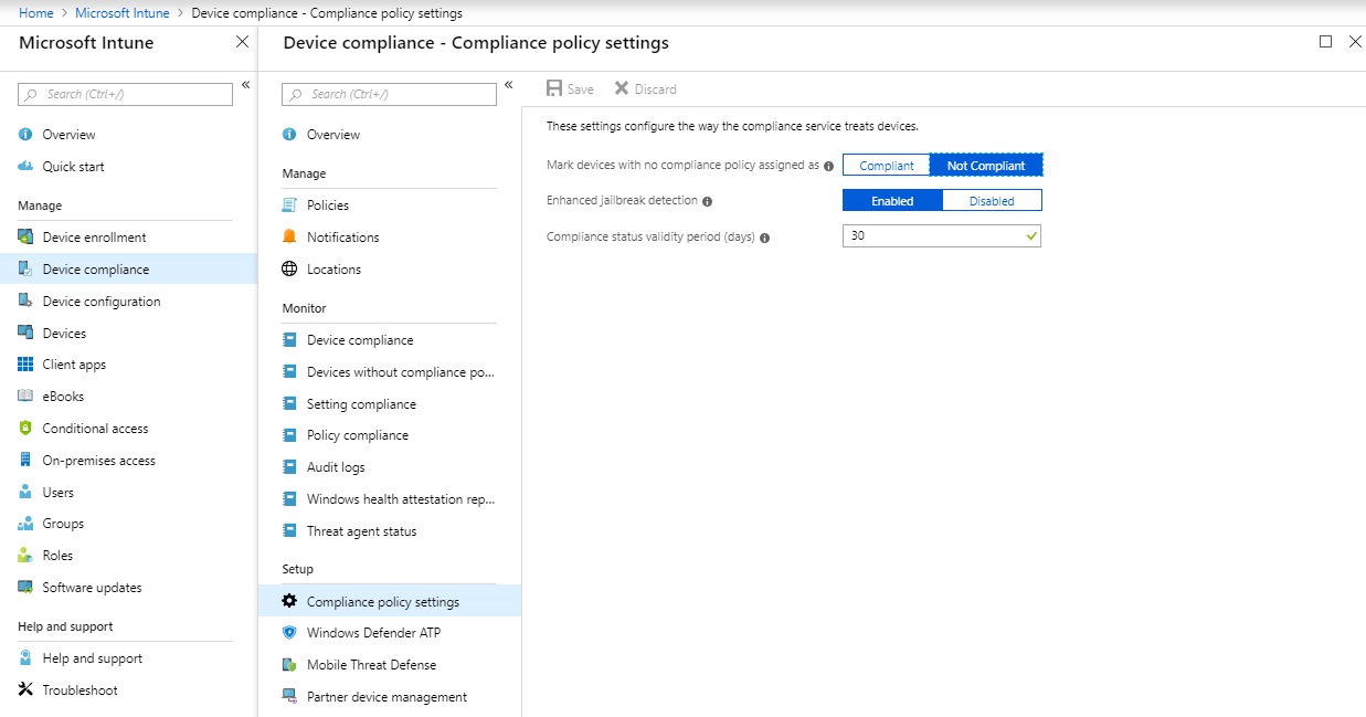 Compliance Policy Intune