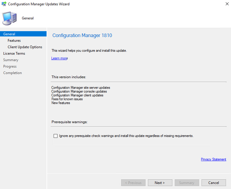 Step-by-Step SCCM 1810 Upgrade Guide