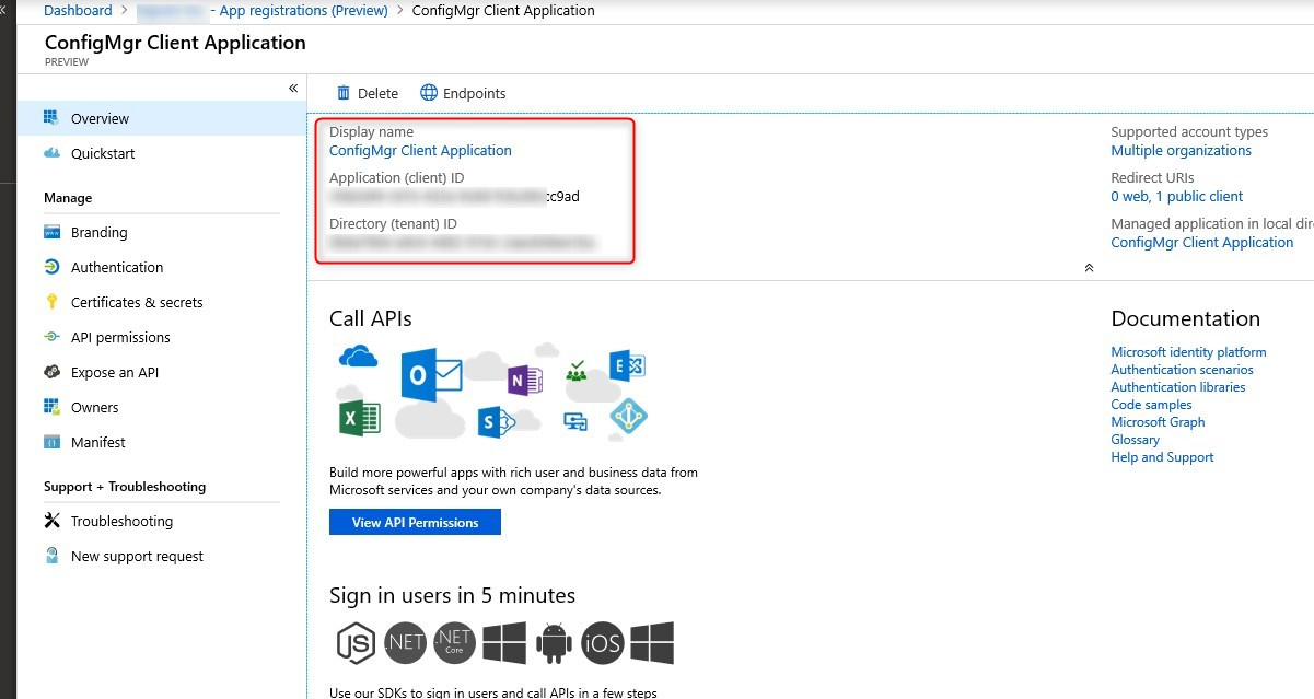 Failed to sign in to Azure error when configuring SCCM Cloud