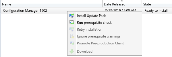 Step-by-Step SCCM 1902 Upgrade Guide
