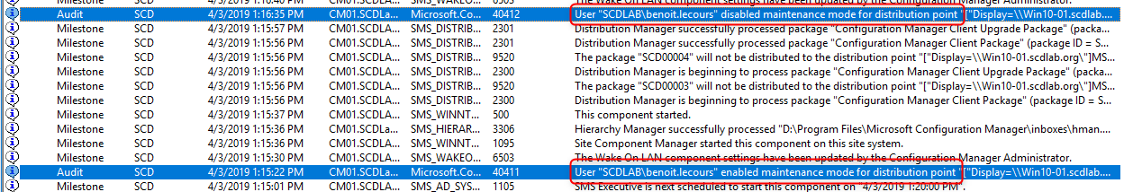 SCCM Distribution Point Maintenance Mode