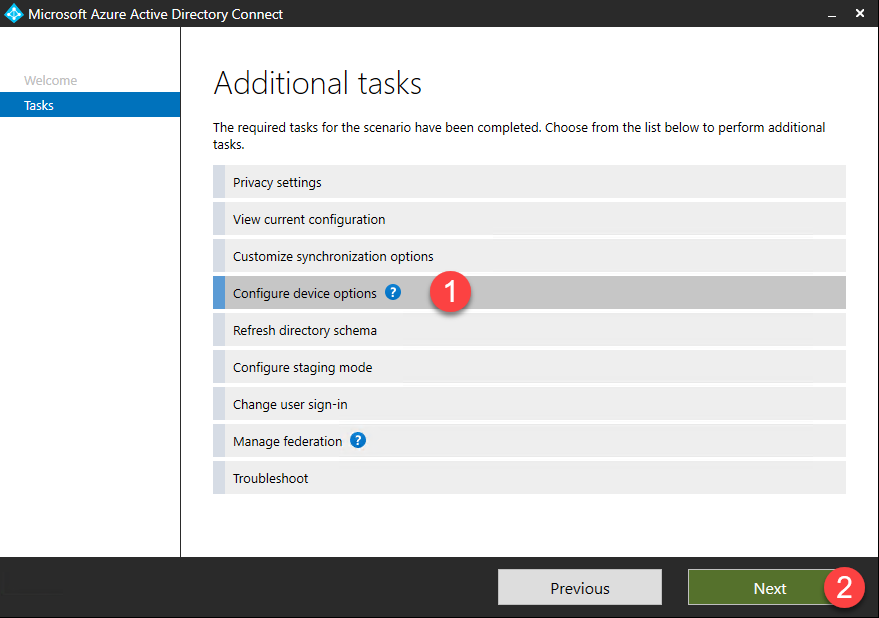 Configure Azure AD Connect