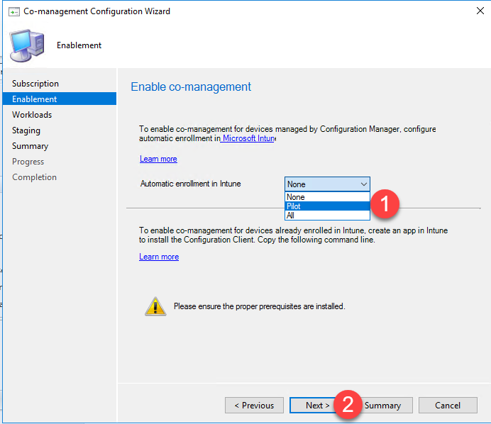 Co-Management SCCM 1902