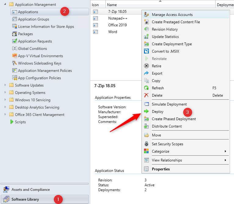 SCCM Install applications device real-time