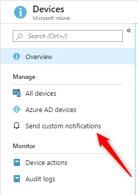 Intune Custom Notifications