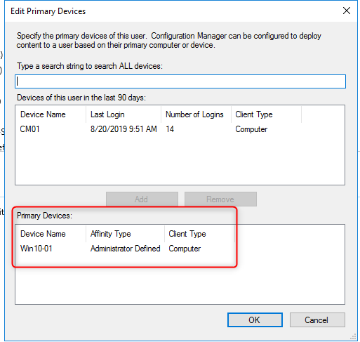 SCCM Primary User Device report
