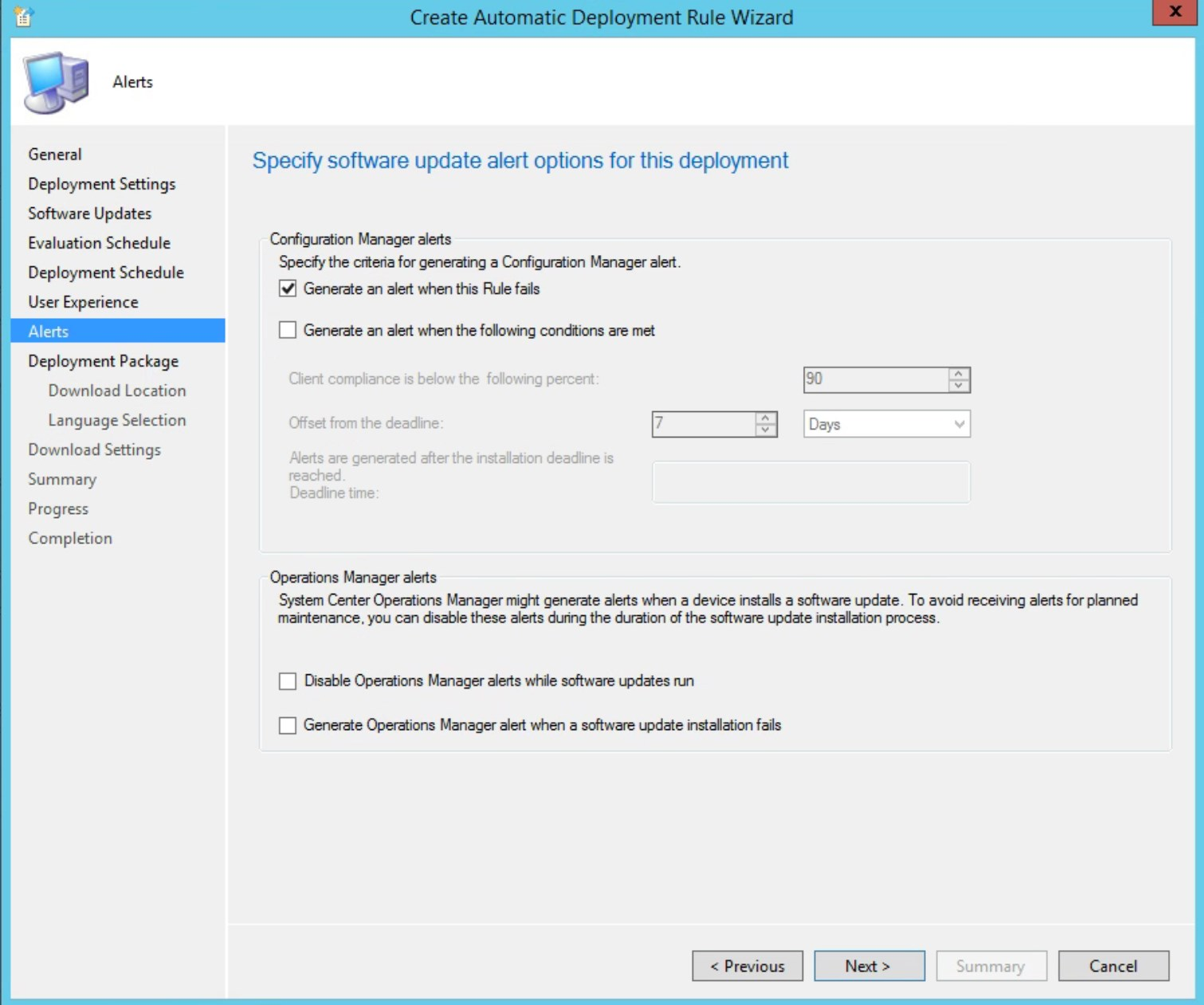 Servicing stack update SCCM
