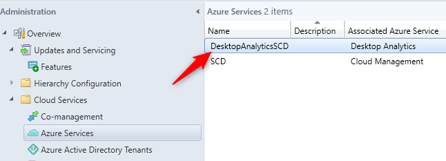 sccm desktop analytics