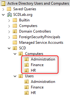 SCCM Collections AD OU