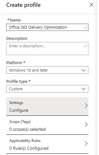 Delivery Optimization Intune