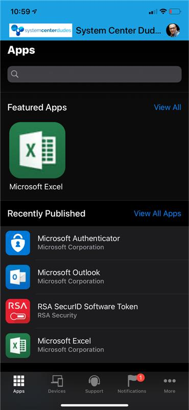 Intune Microsoft Authenticator app