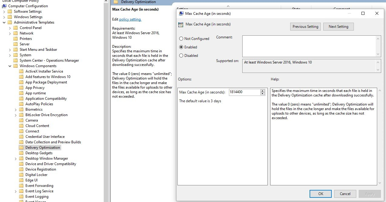 SCCM Delivery Optimization