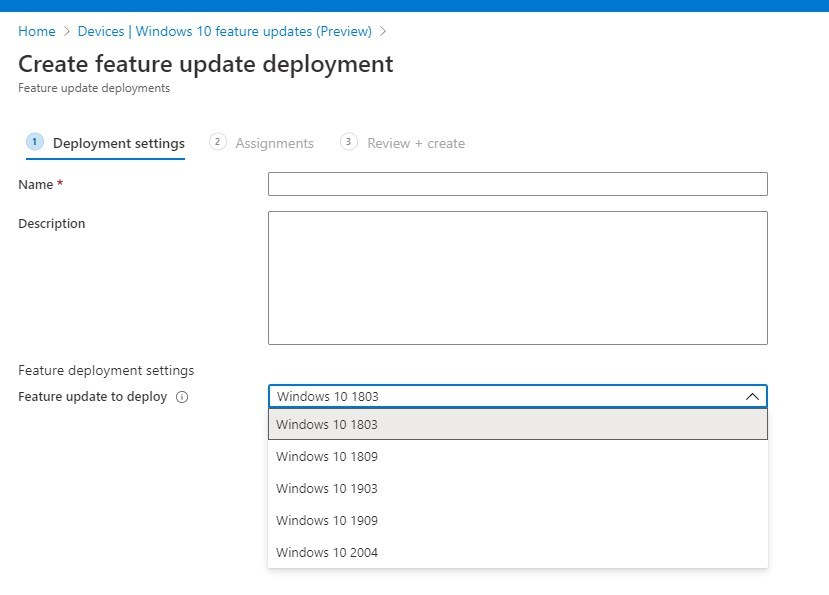 Intune Windows Update Business