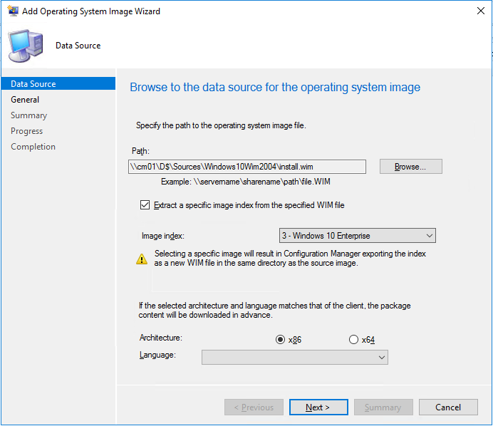SCCM Windows 10 2004 Upgrade