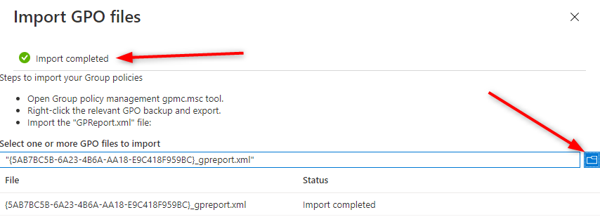 Endpoint Manager Group Policy Analytics