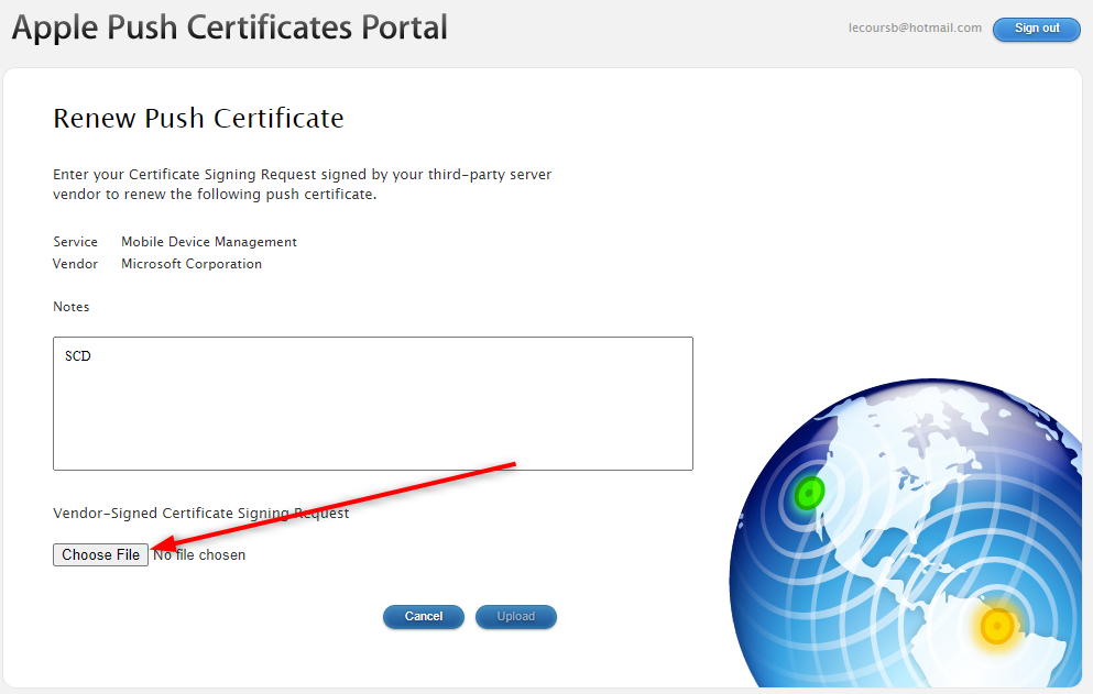 Renew Apple Certificate Endpoint Manager