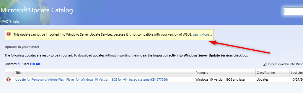 Flash Update SCCM Intune