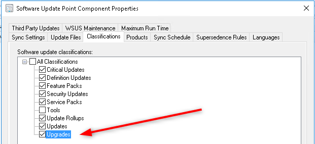 SCCM Feature Update Task Sequence